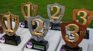 Trophies are awarded to the first three in each age group
